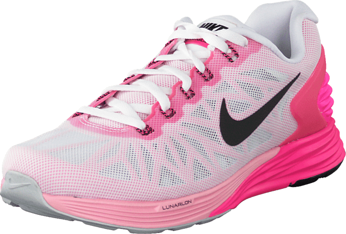 buy online 639a5 10be7 ... discount code for nike wmns nike lunarglide 6 white black pink pow spc  pink b30b5 71ab8