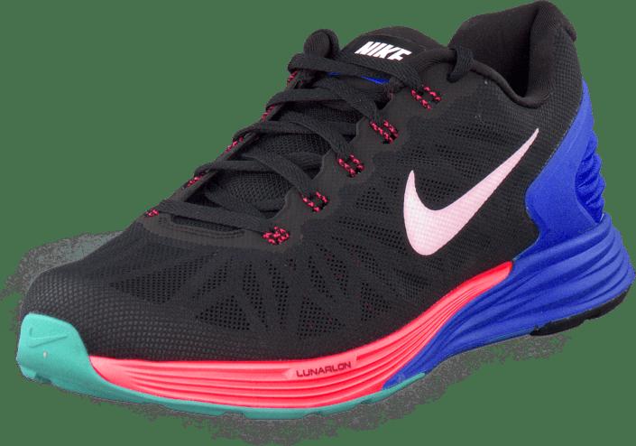 quality design 033b1 47d12 Nike - Nike Lunarglide 6 Blk White-Hypr Cblt-Hypr Pnch