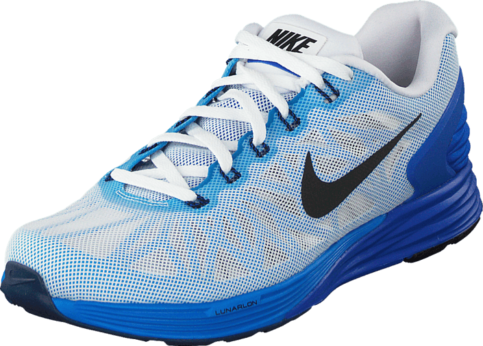 half off 6dce5 3ac17 Nike - Nike Lunarglide 6 White Black-Lyon Blue-Pht Blue