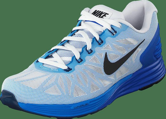 half off e4cab 28878 Nike - Nike Lunarglide 6 White Black-Lyon Blue-Pht Blue