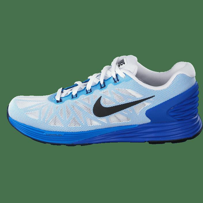 5ea7946cdd709 Buy Nike Nike Lunarglide 6 White Black-Lyon Blue-Pht Blue blue Shoes Online
