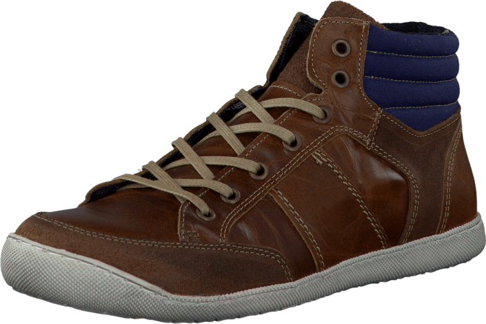 Bianco - Sporty Lace Up Boot Mid Brown