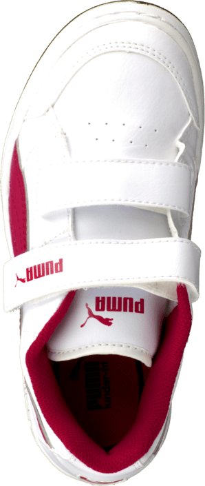 Puma - Puma Rebound V2 Lo Kids White/Cerise
