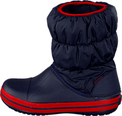 Winter Puff Boot Kids Navy-Red