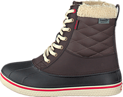 AllCast Waterproof Duck Boot W Espresso/Red