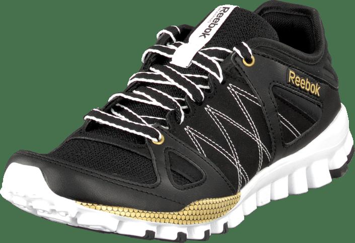 926883dbee41a Acheter Reebok Realflex Train Rs Black Matte Gold White noirs ...