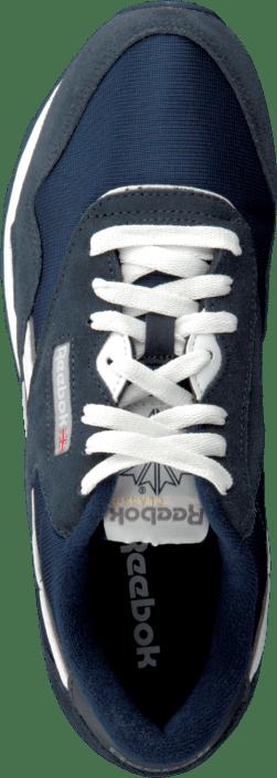 35a2f039dfc Buy Reebok Classic Cl Nylon Team Navy Platinum blue Shoes Online ...