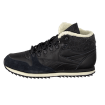 Italien Reebok Cl Lthr Mid Ww BlackCream White Svarte Sko