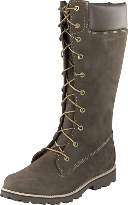 8f64f25df310 Timberland - Girls Classic Tall Lace Up Dark Brown