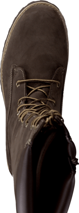 Girls Classic Tall Lace Up Dark Brown