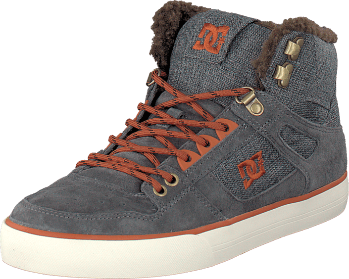 DC Shoes - Spartan High Wc Wnt Shoe Grey/Dark Red