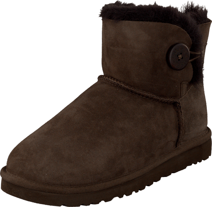 UGG - Mini Bailey Button Chocolate