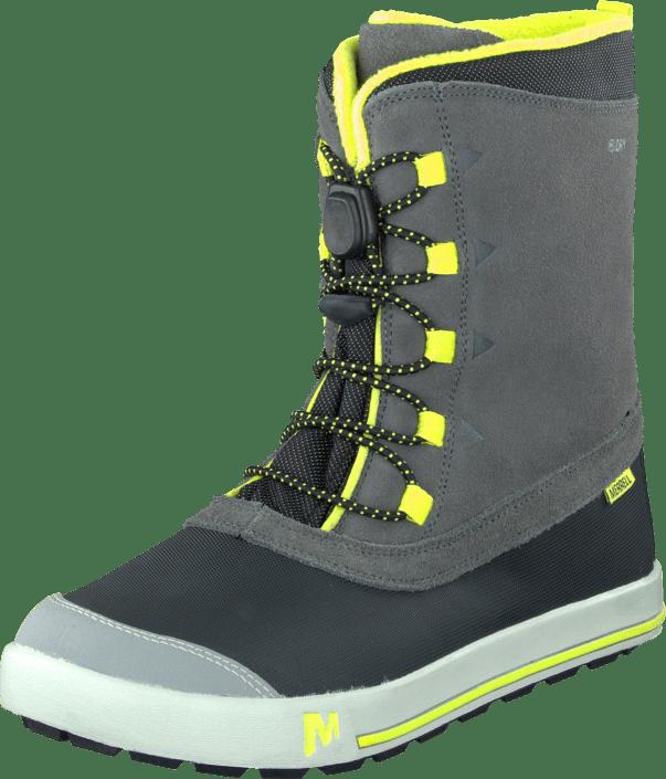 Merrell Snow Bank Waterproof Kids grå Lime gråa Skor Online