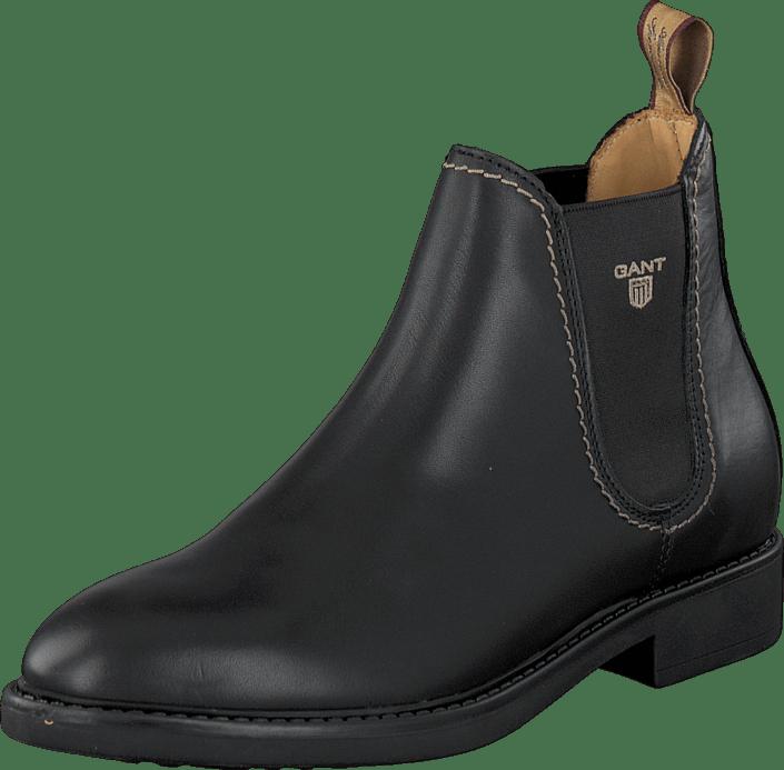 040769c01fea80 Gant Lydia Black Leather graue Schuhe Kaufen Online