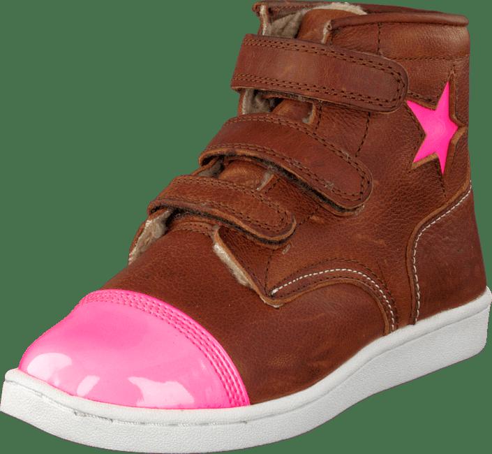 Rugged Gear - Cup Star Fur Cognac/Pink