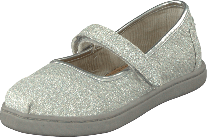 aaf3af3bc91 Buy Toms Glimmer Tiny Classic Mary Jane Silver grey Shoes Online ...