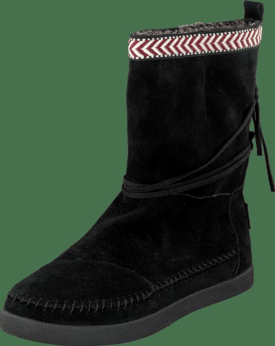 12b5c21ef Buy Toms Suede Trim Womens Nepal Boot Black black Shoes Online ...