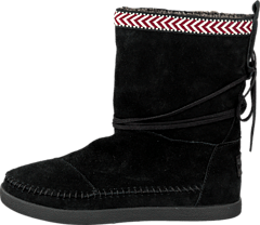 Toms - Suede Trim Womens Nepal Boot Black 470cf33936