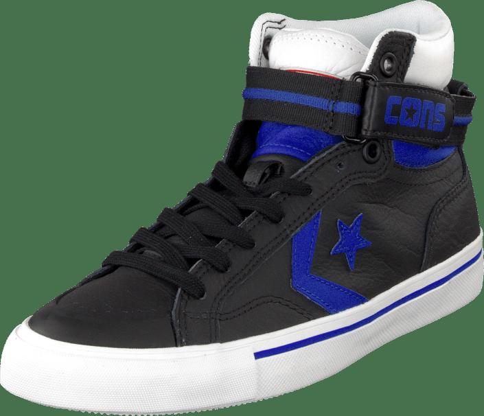 79e1e9be91fe Osta Converse Pro Blaze Plus Leather Hi Black Blue White Siniset ...