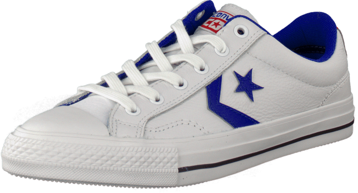 4ae518e21e439a Buy Converse Star Player Leather Ox White Blue white Shoes Online ...
