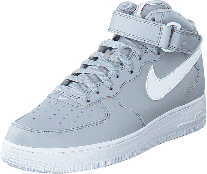 best loved 060ee 542ee Nike - Air Force 1 Mid 07 Wolf GreyWhite
