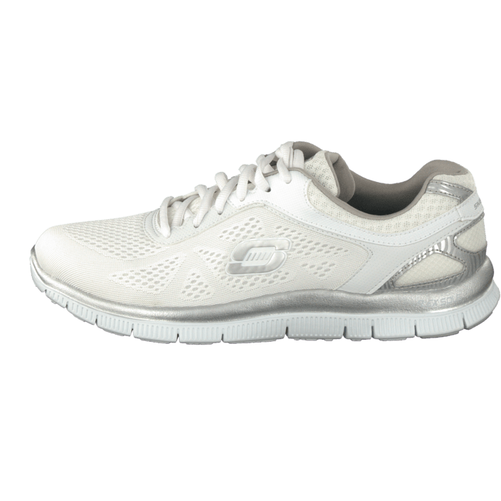 Skechers Sneakers Womens Online Discount White Silver