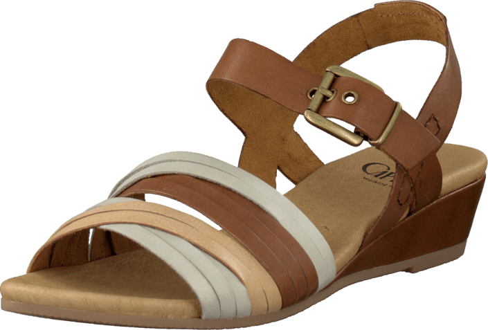 Cognac Sko Sandals Agy Caprice Online Brune Kjøp Comb SPE1xzwq