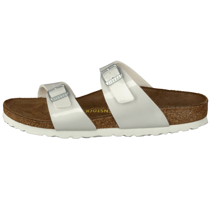 d1b8327ab00c3b Buy Birkenstock Sydney Slim Birkoflor Pearly White brown Shoes Online