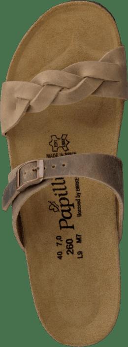 Papillio - Alicia Slim Leather Tabacco
