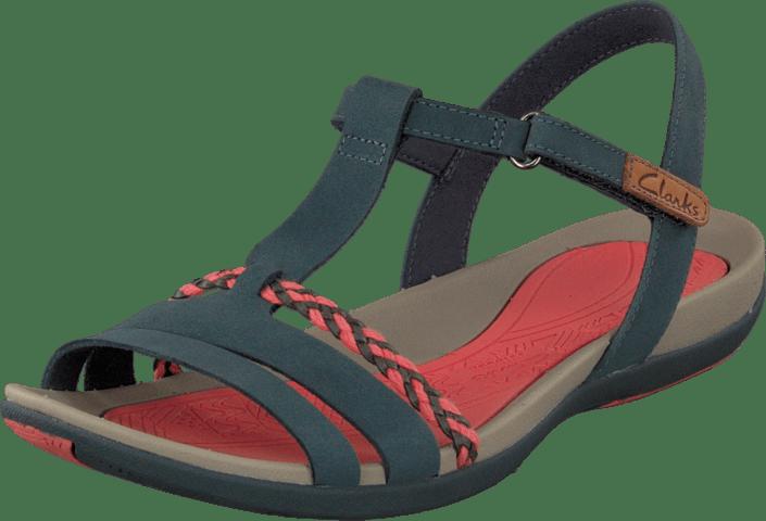 Navy Sandaler Online Clarks Kjøp Nubuck Grace Tøfler Og Røde Sko Tealite 4SR48qgcT