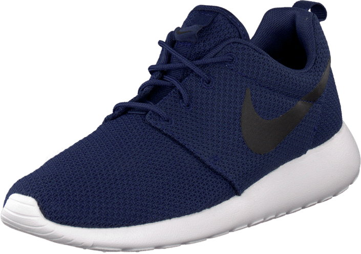 separation shoes 20dac 28a1f Nike Roshe Run Midnight Navy/Black-White