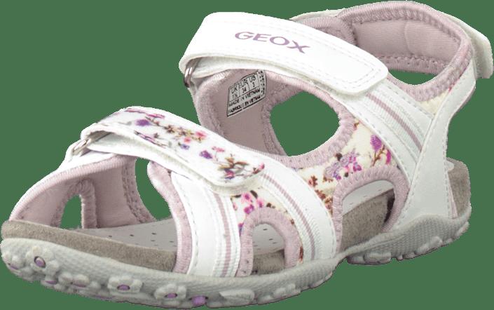 9b9b18304 Buy Geox Jr Sandal Roxanne White Lilac white Shoes Online
