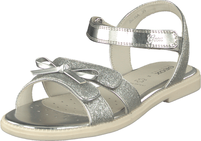 Grå Grå Sandal Kjøp J Geox Geox Silver Online Sko no FOOTWAY Girl Karly wY6Pq