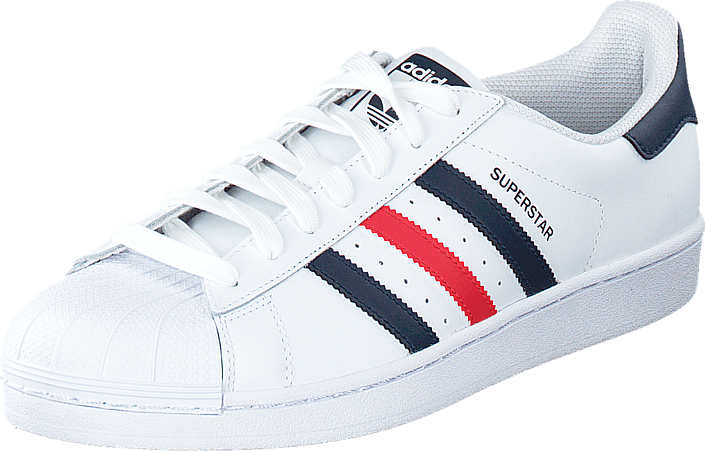 sale retailer 30706 98ab2 Superstar Foundation Ftwr White/Collegiate Navy/Red