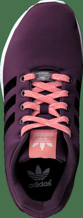 7394cce8f85e9 Buy adidas Originals Zx Flux K Merlot purple Shoes Online