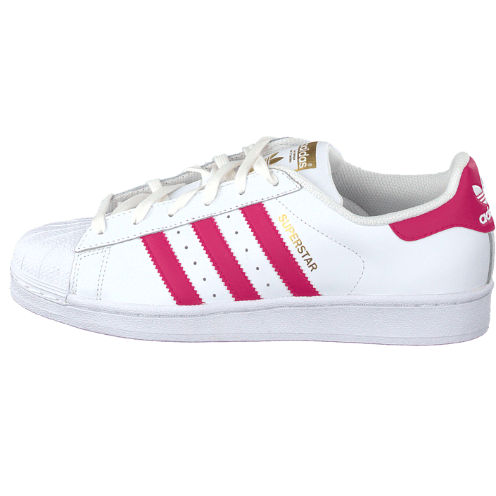 official supplier new collection great prices Osta adidas Originals Superstar Foundation Jr White/Bold Pink ...