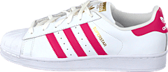 Superstar Foundation Jr White/Bold Pink