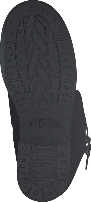 Johnny Bulls - High Zip Back Black Shiny Silver