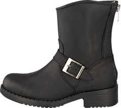 Low Boot Zip Back Black/Silver