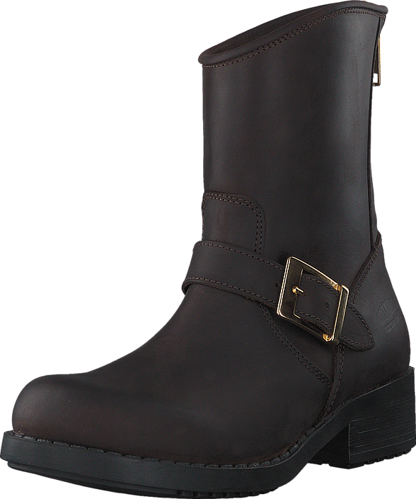 Johnny Bulls - Low Boot Zip Back Brown/Shiny Gold