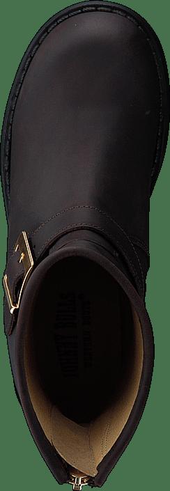 Kjøp Johnny Bulls Low Boot Zip Back Brown/shiny Gold Sko Online