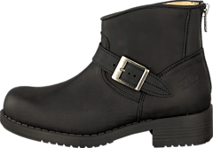 Very Low Boot Zip Back Black/Silver