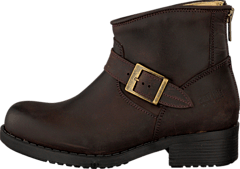 Very Low Boot Zip Back Brown/Gold