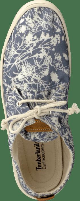 Kjøp Lave Hookset Timberland Sko Online Blue Oxford Canvas Floral Blå rqrnxgS
