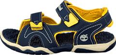 Adventure 2-strap sandal Navy/Yellow