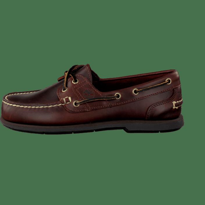 Classic Timberland Boat Online Rootbeer Shoe Kjøp Brune Lave Sko Smooth w5qap4wPd