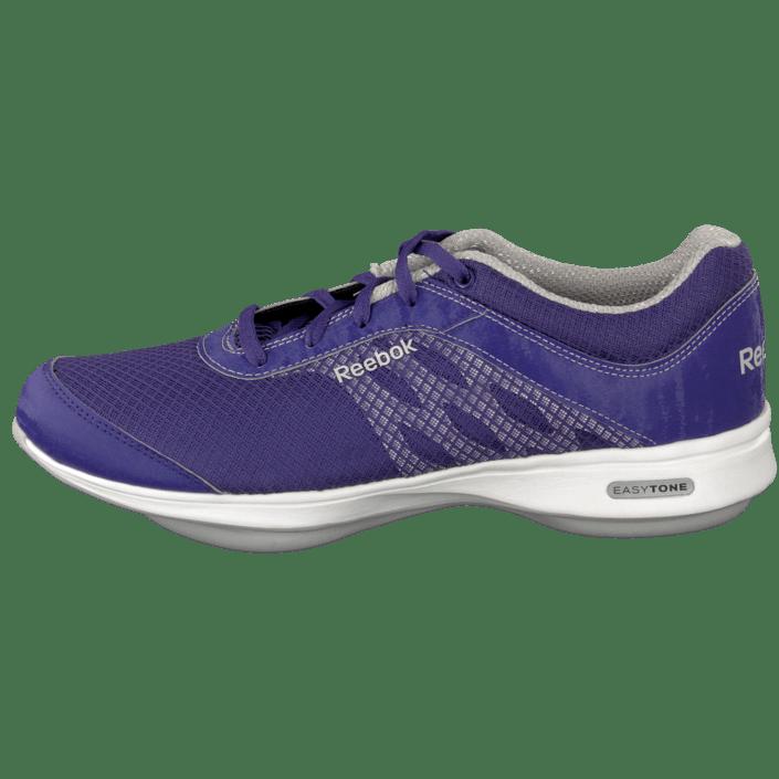 16506102c3ae72 Buy Reebok Easytone Reenew Iv Sport Violet Steel White blue Shoes Online