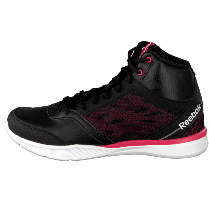 Cardio Workout Mid Rs Syn BlackGravelBlazing Pink