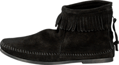 Back Zipper Boot Black