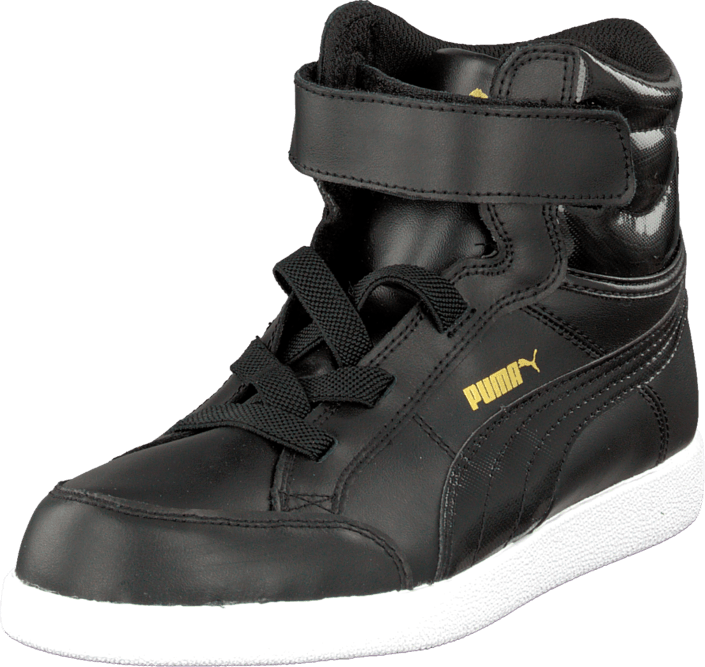 Puma Ikaz Mid Kids Black Black Team Gold
